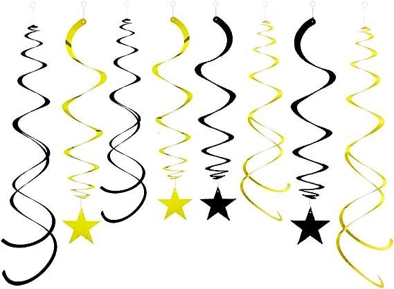 Bleu étoiles filantes Hanging Swirl Decorations x 30