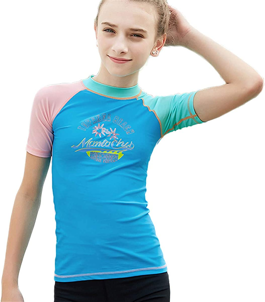 Sun Protection Long Sleeve Rash Guard WaveGirl Shoulder Zip Athletic Fit Activewear ShadeSuits Girls Swimsuit Shirt UPF 50