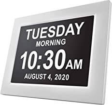 American Lifetime, Newest Version, Day Clock Extra Large Impaired Vision Digital Clock with Battery Backup and 5 Alarm Opt...