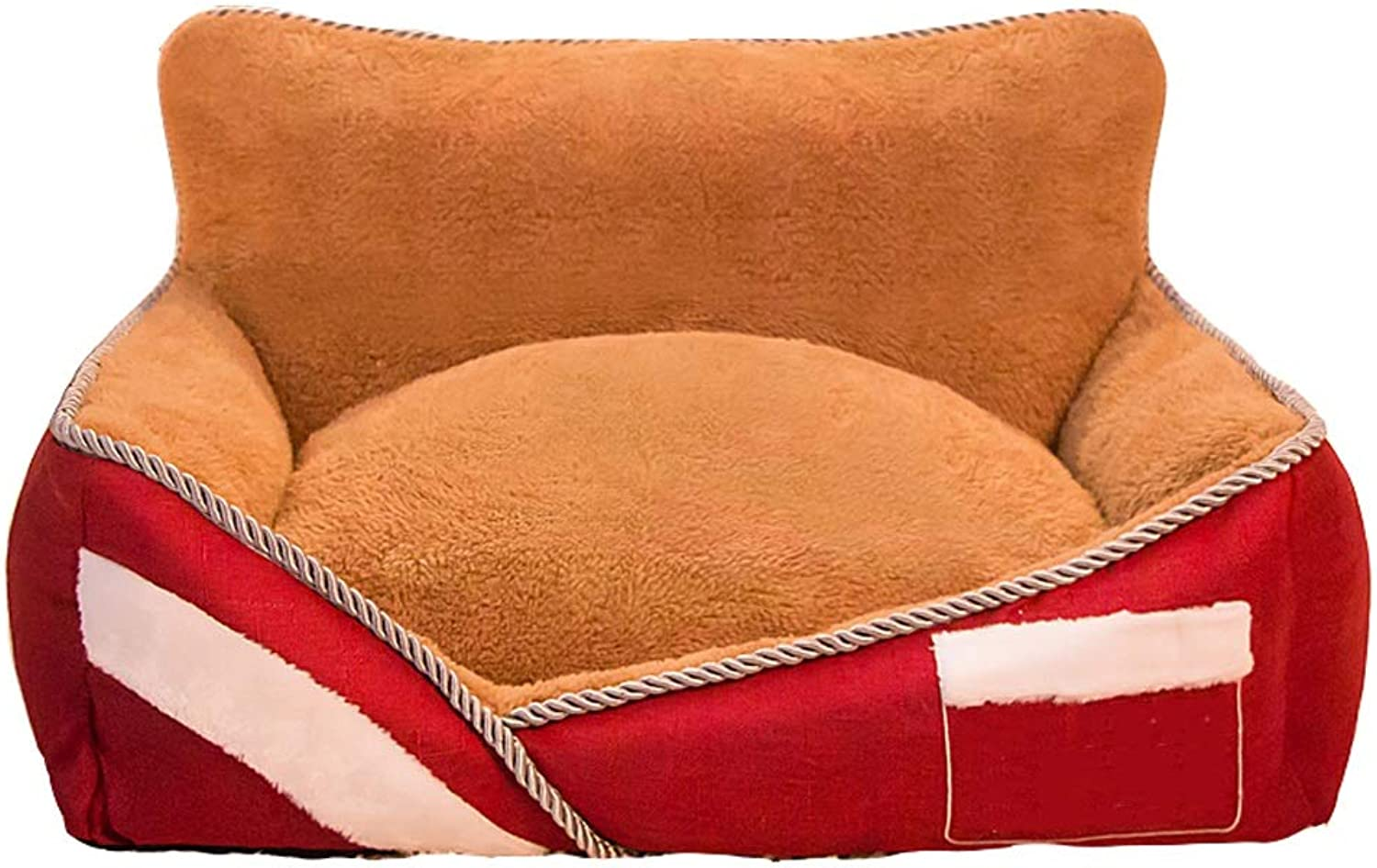 B&F Dog Bed, Dog House Winter Warm Medium Washable Kennel Cat Litter Small Dog Pet Supplies (color   Red, Size   S)