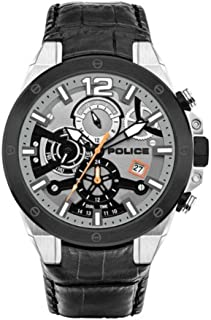 Police Watches saiho Mens Analog Quartz Watch with Leather Bracelet PL.15711JSTB-04