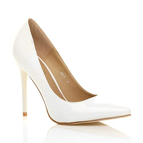 3140af4a2a Womens ladies high heel pointed contrast court smart party work shoes pumps