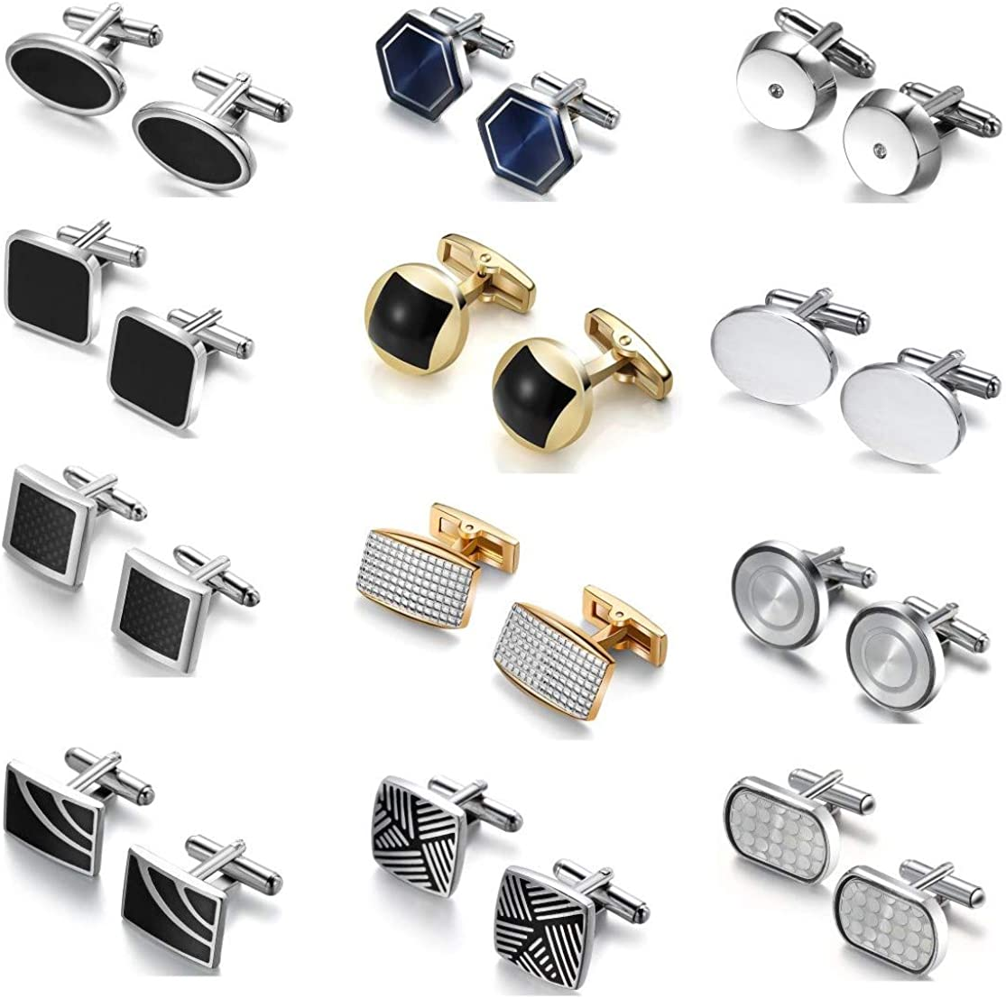 DORICUFF Save money Cufflinks for Men Gift Elegan Simple Set Stylish 67% OFF of fixed price Modern