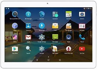 """デュアルSIMカードスロットを備えた10インチのAndroidタブレット3G携帯電話を呼び出すPhablet 2GB RAM 32GB ROM Octa Core 10.1 """"Wi-FiとカメラのGPS内蔵 (银)"""