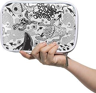 Estuche para brochas de maquillaje gran capacidad Montoj diseño de elefante con cierre de cremallera