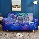 IUYJVR Housse de canapé pour 1 2 3 4 Places, housses de canapé 3D en Tissu Extensible Lavable protecteur de canapé pour canapés en Cuir + Cadeau de Rouleau collant x 1 (1 Place, Mandala Galaxy)