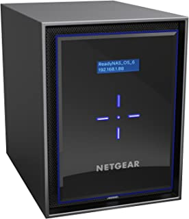 NETGEAR ReadyNAS RN426D4 6 Bay 24TB Desktop High Performance NAS, 60TB Capacity Network Attached Storage, Intel 2.1GHz Quad Core Processor, 4GB RAM, (RN426D4)
