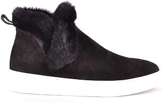 Luxury Fashion | Hogan Women MCBI37905 Black Suede Hi Top Sneakers | Season Outlet