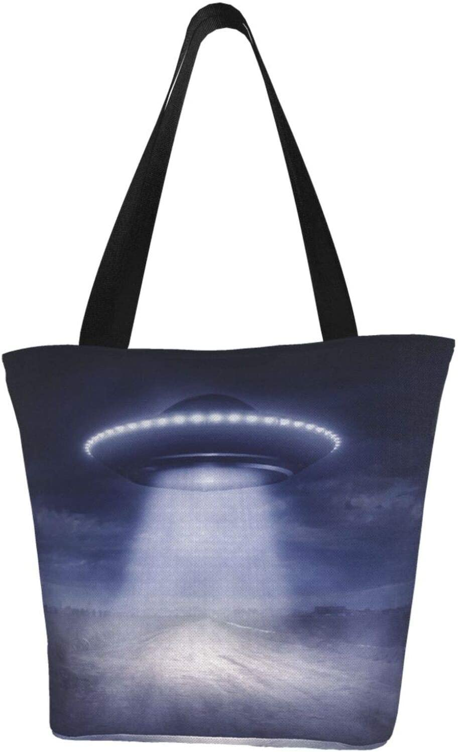 AKLID Blue UFO Science Extra Large Water Colorado Springs Mall Canvas B Recommended Tote Resistant