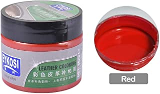 Leather Scratch Repair Cream | Repair & Restore Faded, Worn and Scratched Leather Easily | Works on Couches, Car Seats, Clothing & Purses Furniture (Red)