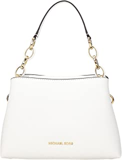 32ca451e76c9 MICHAEL MICHAEL KORS Portia small saffiano leather shoulder bag Optic White