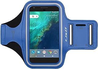 J&D Armband Compatible for Google Pixel 4/Pixel 3a/Pixel 3/Pixel 2/Google Pixel/iPhone XR Armband, Sports Armband w/Key Holder Slot and Earphone Connection, Running iPhone XR Pixel 4 Running Armband