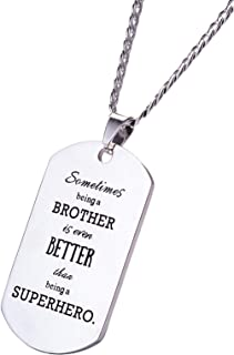 Stainless Steel Dog Tags Necklace for Men,We Will Fight Them Together