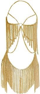 Boho Jewelry Women Metal Body Chain Set Indian Belly Chain Bikini Halloween Costume Party