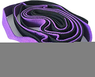 Yoga belt Stretching Strap Multi-Grip Flexibility Leg Stretch Band Durable Exercise and Physical Therapy Belt Purple Resis...