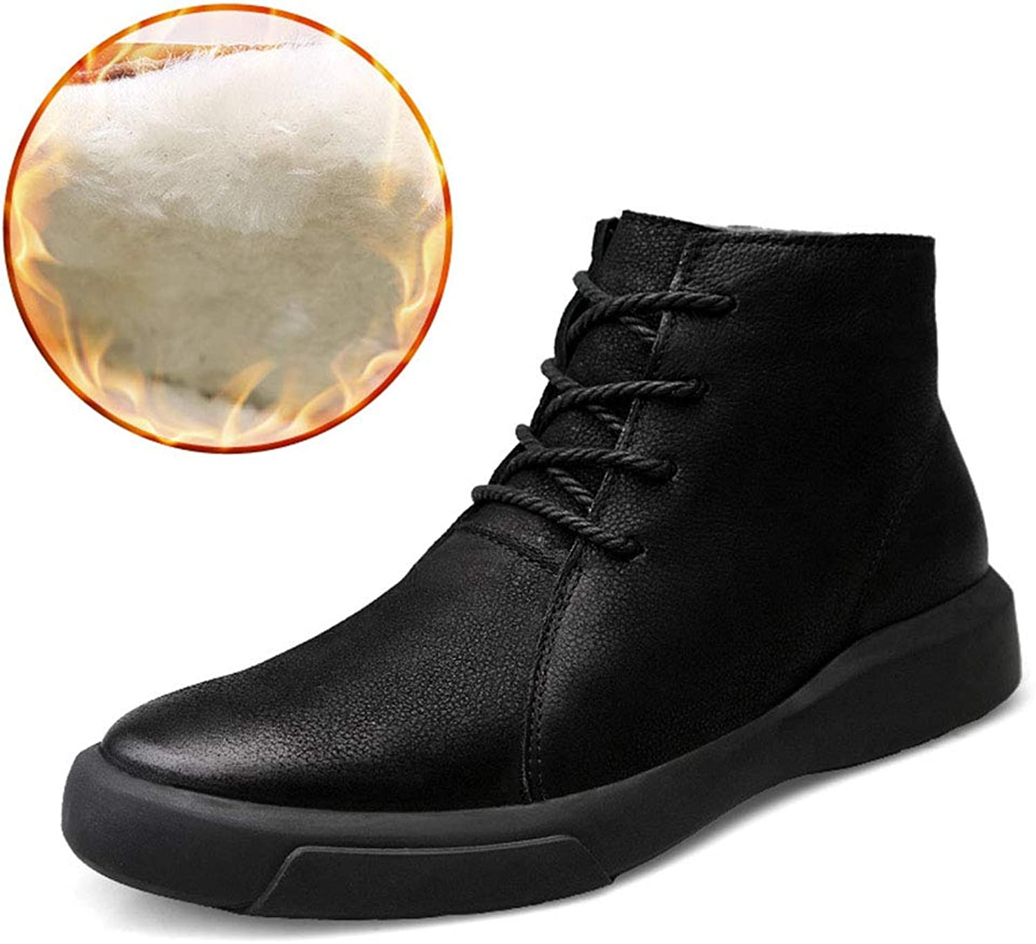 Men Tide shoes Spring And Summer Thin Section Business Men's shoes Men's Boots Chelsea Boots Autumn And Winter Large Size Martin Boots Outdoor Leisure Short Tube Cowhide Plus Velvet Keep Warm