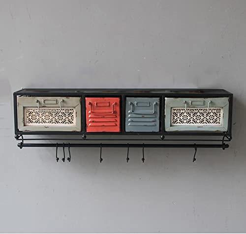 WEBO Home- Retro Eisen Wort Wort Partition Kreative Wand Regal Rahmen Wand Regal Bücherregal Schublade Schrank -Regal
