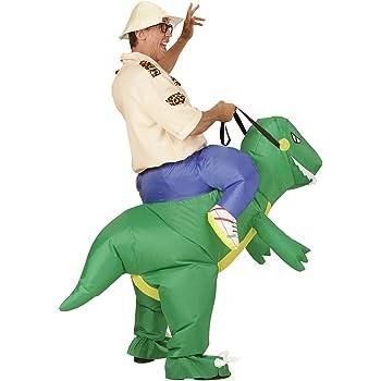 WIDMANN Disfraz de explorador en dinosaurio hinchable: Amazon.es ...