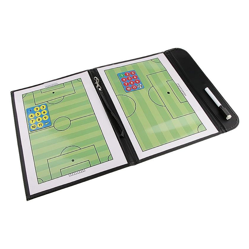 生きる引退する成功Baoblaze 折り畳み マグネット サッカー用  戦略計画 指導 コーチング タクティクスボード 作戦盤 ペン 54 x 32 cm