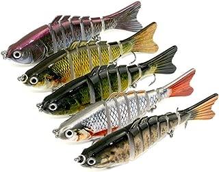 Spbamboo Fishing Lure - Fishing Lures Lifelike Multijointed 7-segement Pike Fishing Lure Fake Fish Bait