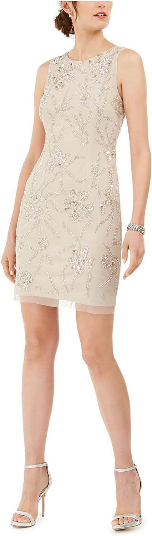 Adrianna Papell Women's Beaded Mini Dress