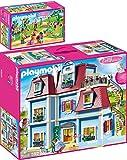 geobra Brandstätter PLAYMOBIL® Dollhouse Juego de 2 Piezas 70205 70212 Casa de Muñecas + Fiesta de Cumpleaños Infantil