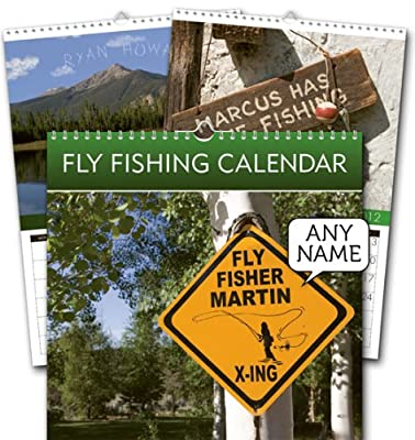Gift Wrapp Fly Fishing Personalised A5 Calendar from Gift Wrapp