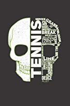 Skull Tennis: Lined notebook   Tennis Sports   Perfect gift idea for Backspin and Forhand player, sportsman and Point grabber