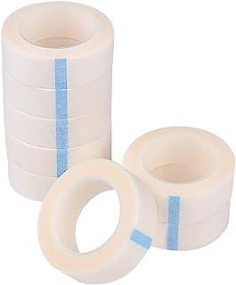 TUPARKA 8 Rolls White Eyelash Tape ,Adhesive Fabric Eyelash Tapes ,Lash Tape for Eyelash Extension Supply, 9M Each Roll