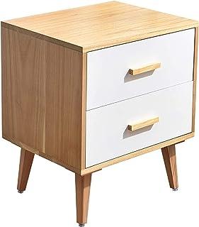 DRGRG Bedside table Bedside Table White Wood, Light Luxury Nightstand For Bedroom, Modern Simplicity Bedside Cabinet 3 Dra...