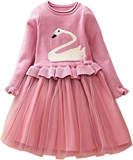 Bleubell Girls Unicorn Sweater Dress Garden Party Jesery Winter