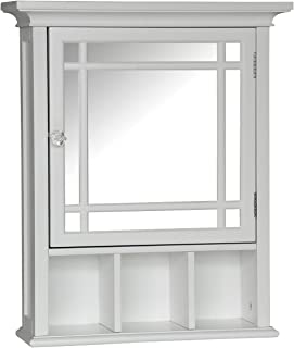 Elegant Home Fashions Neal Bathroom Cabinet, One Size, white