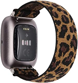 UooMoo Elastic Bands Compatible with Fitbit Versa/Fitbit Versa 2/Fitbit Versa Lite,Soft Single-Layer Stretch Strap Fit for...