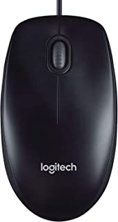 Logitech M90 Wired USB Mouse, 1000 DPI Optical Tracking, Ambidextrous PC / Mac / Laptop - Black