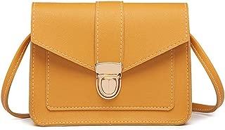 Wultia - Vintage Leather Hotsale Women Wedding Clutches Ladies Party Purse Famous Designer Crossbody Shoulder Messenger Bags #T09 Yellow
