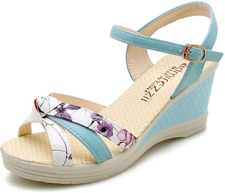 Women's Wedge Sandal PU Leather Cross T AnkleStrap Free shipping on posting reviews [Alternative dealer] Vamp Peep