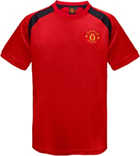 Manchester United Football Club Official Gift Boys Poly Training Kit T-Shirt