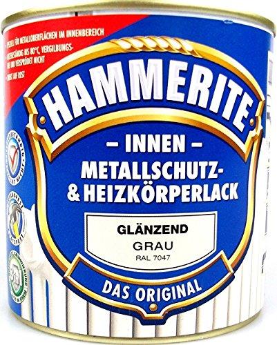 AKZO NOBEL (DIY HAMMERITE) Innen Metallschutz- und Heizkörperlack glänzend 0,500 L, 5117866, Grau