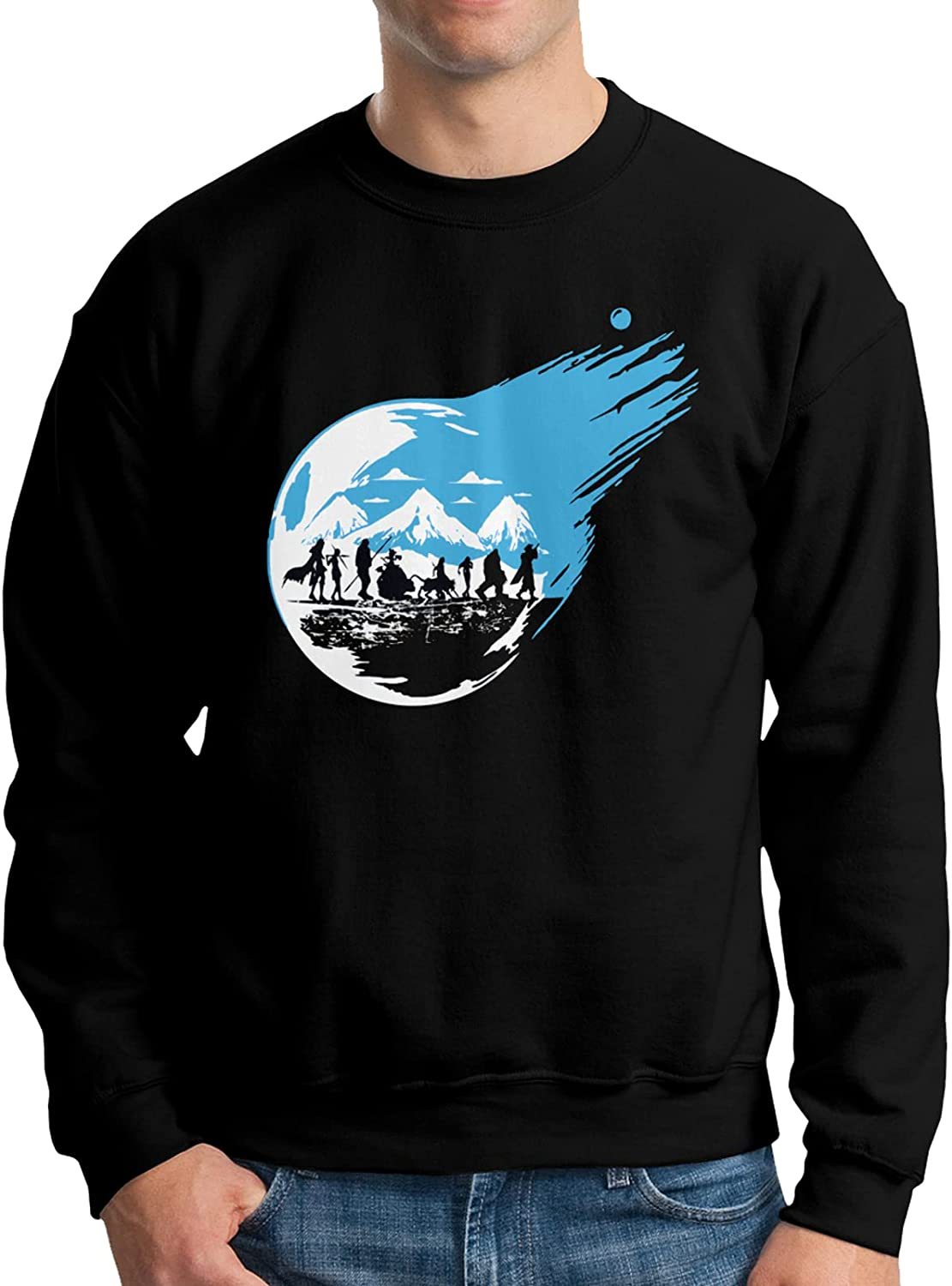 Final Fantasy Hoodie Man'S Limited time trial price Round Neck Sweater Sleeve Sale Sweats Long