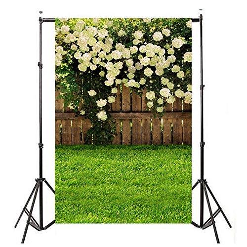 FORH Hintergrund Kulissen, Foto-Hintergrund, Vinylholz Wand Boden 3x5FT Laterne Hintergrund Fotografie Studio für Portrait, Produkt Fotografie und Videoaufnahme (90 * 150cm, Ostern F)