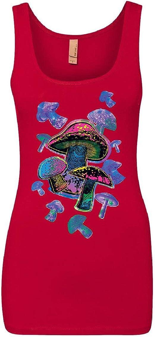 Colorful Neon Mushrooms Women/'s Tank Top Shrooms Psychedelic Psilocybin Top
