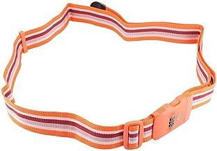 Universeel slot Reisbagage Koffer Bagage Belt Veiligheid Band Beveiliging Wachtwoordslot Handige materialen (Color : Orange)