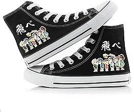 Jzdhlsc Men Women Haikyuu,Black Chaussures De Toile D'Anime Chaussures De Marche Confortables Et Décontractées