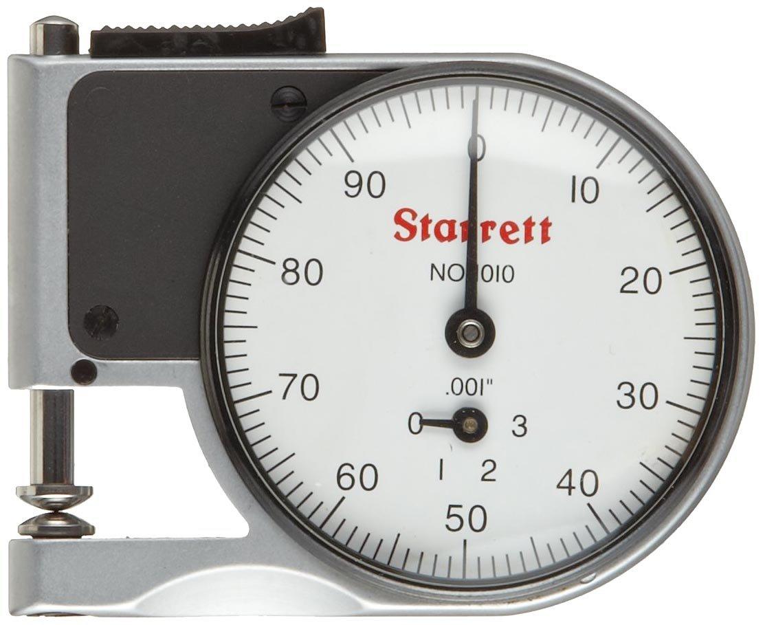 Starrett 1010RZ Dial Indicator Pocket Dia. Popular standard Stem Whi Gage 0.25