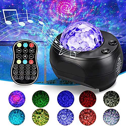 Luces De Proyector LED, Proyector Galaxy Luz Starry Star Luz Noche Incorporada Bluetooth Altavoz Bluetooth, Star Sky Sleep Calmante De Color Lámpara De Cambio Para Niños Adultos Decoración Del Hogar