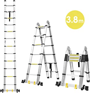 Fixkit 3.8M Escalera Plegable Aluminio, Escalera Telescó