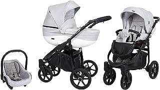 Passeggino SaintBaby Master Black 2in1 3in1 Isofix seggiolino per bambini passeggino combi buggy Silver 09 4in1 con Ovetto...