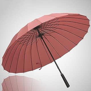 LINrxl Reinforced Super Windproof Business Men's Handle Umbrella (Color : Pink)