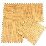 alfombra Puzzle para Bebe, Proteccion del Suelo de la habitacion niños y niñas 4pcs 120x120 / 60cm Cada Pieza
