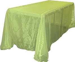 """مفرش طاولة مستطيل الشكل La أورجانزا شفافة من الكتان, Lime, 90 by 132"""""""